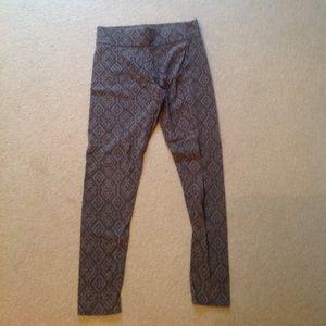 Grey Printed Leggings